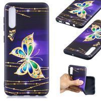 Patt gélový obal na Samsung Galaxy A50 - diamantový motýľ