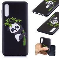 Patt gélový obal na Samsung Galaxy A50 - panda na bambusu