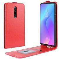 Flip PU kožené puzdro na mobil Xiaomi Redmi K20 / Redmi K20 Pro / Xiaomi Mi 9T / Xiaomi Mi 9T Pro - červené