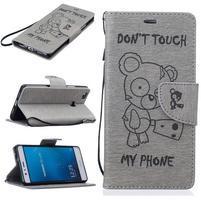 BadBeer peňaženkové puzdro na Huawei P9 Lite - sivé