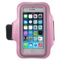 BaseRunning puzdro na ruku pre telefony do 125*60 mm - ružové