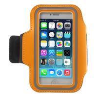 BaseRunning puzdro na ruku pre telefony do 125*60 mm - oranžové