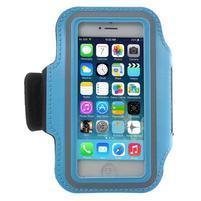 BaseRunning puzdro na ruku pre telefony do 125*60 mm - svetlomodré