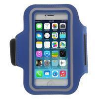 BaseRunning puzdro na ruku pre telefony do 125*60 mm - modré