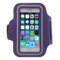 BaseRunning puzdro na ruku pre telefony do 125*60 mm - fialové