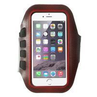 FX7 športové puzdro na ruku pre telefony do 145*80 mm - červené