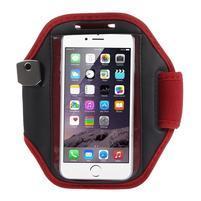 Absorb fitness puzdro na ruku pre telefony do 145*80 mm - červené