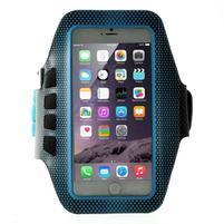 QX7 fitness športové puzdro na ruku pre telefony do 160*80 mm - modré