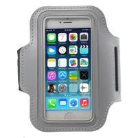 BaseRunning puzdro na ruku pre telefony do 125*60 mm - svetlošedé