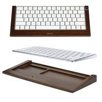 Woods tmavý drevený stojanček na klávesnici do rozmeru 28 cm x 11,5 cm