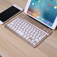 B7-9 bluetooth bezdrôtová klávesnica na tablety a mobily - zlatá