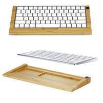 Woods svetlý drevený stojanček na klávesnici do rozmeru 28 cm x 11,5 cm