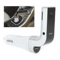 FM bluetooth handsfree s prehrávačom a nabíjaním do auta - stříbrný