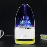WatterBass bluetooth bezdrôtový reproduktor s LED tancujúcí vodou - žlutozelený