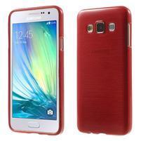 Broušené puzdro pre Samsung Galaxy A3    - červená