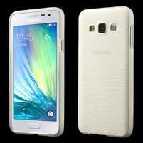 Broušené puzdro pre Samsung Galaxy A3 - bílá