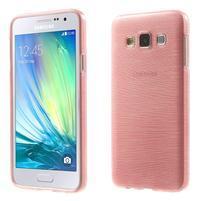 Broušené puzdro pre Samsung Galaxy A3 - ružová