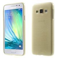 Broušené puzdro pre Samsung Galaxy A3 - zlatá