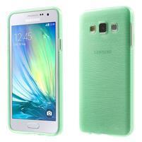 Broušené puzdro pre Samsung Galaxy A3    - svetlo zelená