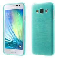 Broušené puzdro pre Samsung Galaxy A3 - tyrkysová