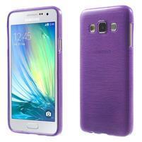 Broušené puzdro na Samsung Galaxy A3 - fialová