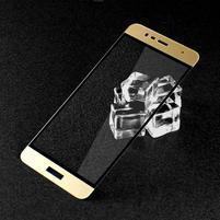 GTX celoploné fixačné tvrdené sklo pre Asus Zenfone 3 Max ZC520TL - zlatý lem