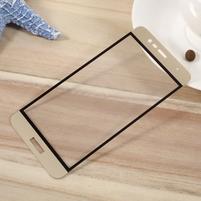 F9X fixačné celoplošné tvrdené sklo pre Asus Zenfone 3 Max ZC520TL - zlatý lem