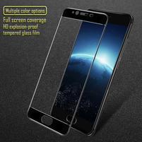 GT celoplošné fixačné tvrdené sklo pre Meizu E2 - čierný lem