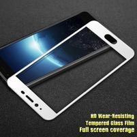 GT celoplošné fixačné tvrdené sklo pre Meizu E2 - bielý lem