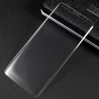 Celoplošné fixačné tvrdené sklo pre Samsung Galaxy S8 - transparentný lem