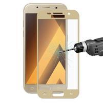 Hats celoplošné fixačné sklo pre Samsung Galaxy A5 (2017) - zlatý lem
