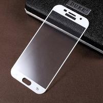 CrocoSilk celoplošné fixačné sklo pre displej telefonu Samsung Galaxy A5 (2017) - bielý lem