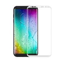 FFScreen celoplošné fixačné tvrdené sklo pre displej telefonu Samsung Galaxy S8 - biely lem