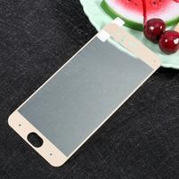 Full fixačné celoplošné tvrdené sklo pre Xiaomi Mi 6 - zlatý lem