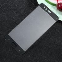 Full fixačné celoplošné tvrdené sklo pre Xiaomi Mi 6 - čierný lem