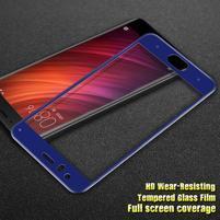IM fixačné celoplošné tvrdené sklo pre Xiaomi Mi 6 - modrý lem