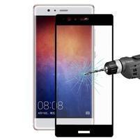 Celoplošné ochranné tvrdené sklo na Huawei P9 Plus - čierny lem