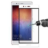 Celoplošné ochranné tvrdené sklo na Huawei P9 Plus - biely lem