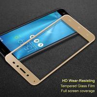 IMK celoplošné tvrdené sklo na displej Asus Zenfone Live ZB501KL - zlatý lem