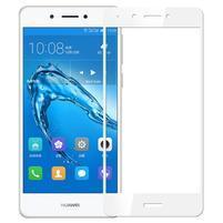 MLC celoplošné tvrdené sklo na displej Huawei Nova Smart - biely lem