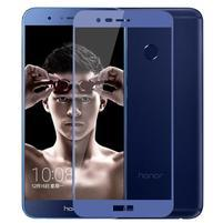 MLC celoplošné tvrdené sklo na Honor 8 Pro - modrý lem