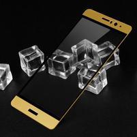 IMK celoplošné tvrdené sklo na displej Huawei Mate 9 - zlatý lem