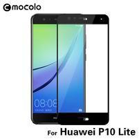 MLC celoplošné tvrdené sklo na Huawei P10 Lite - čierny lem