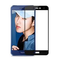 MLC celoplošné tvrdené sklo na displej Huawei P8 Lite - čierny lem