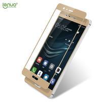 LEN celoplošné tvrdené sklo na Huawei P9 - zlaté