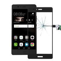 Protinárazové celoplošné tvrdené sklo pre mobil Huawei P9 - čierne