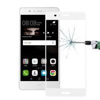 Protinárazové celoplošné tvrdené sklo pre mobil Huawei P9 - biele