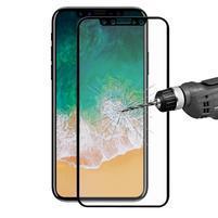 F9X celoplošné tvrdené sklo na iPhone X - čierne
