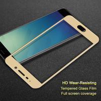 IMK celoplošné tvrdené sklo na Meizu M6 Note - zlatý lem
