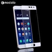 MLC celoplošné tvrdené sklo na Meizu Pro 7 - biely lem